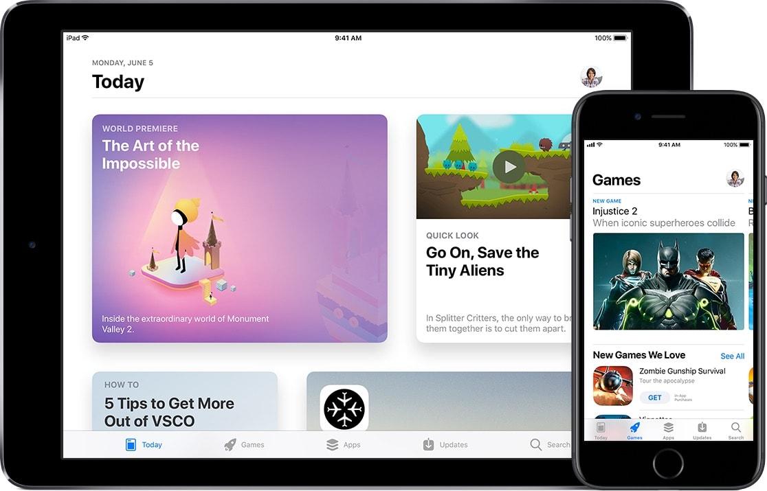 La nouvelle version de l'appstore d'Apple