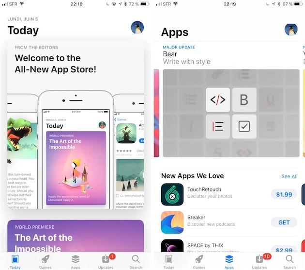 Une nouvelle version de l'AppStore